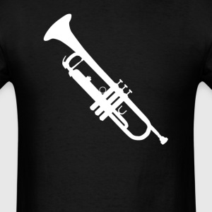 Trumpet Silhouette Cool Music - Men's T-Shirt