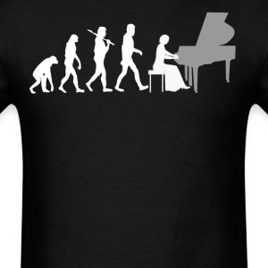 Piano Player Evolution Funny Music - Men's T-Shirt