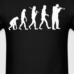 Trumpet Player Evolution Funny Music - Men's T-Shirt