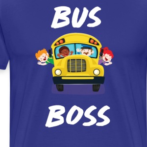 Bus Boss School Bus Driver Monitor T-Shirt T-Shirts - Men's Premium T-Shirt