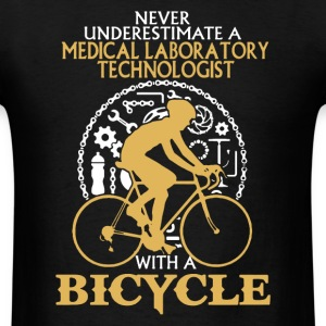 Medical Lab Tech With A Bicycle Shirt - Men's T-Shirt