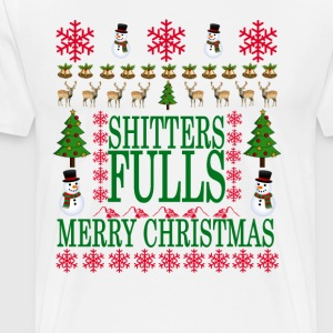 merry_christmas_shitters_full_funny_ugly - Men's Premium T-Shirt