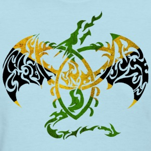 JAMAICA FLAG DRAGON BACK T-Shirts - Women's T-Shirt