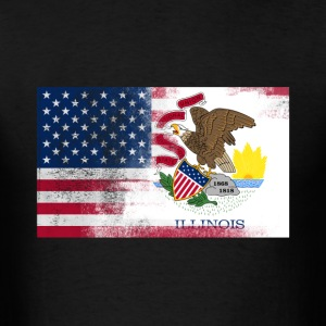Illinois American Flag Fusion - Men's T-Shirt