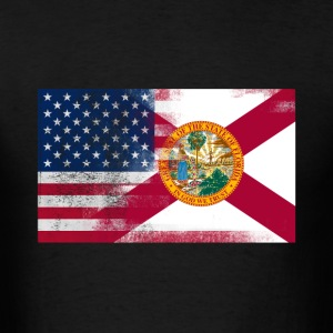 Florida American Flag Fusion - Men's T-Shirt