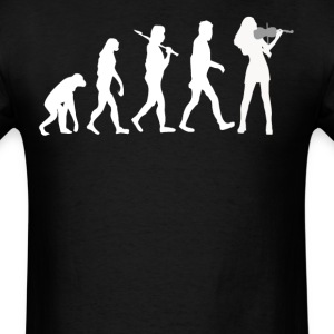 Violinist Evolution Funny Violin Music - Men's T-Shirt