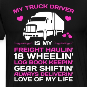 My Truck Driver Freight Haulin' Log Book Keepin'  T-Shirts - Men's Premium T-Shirt