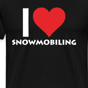 I Heart Snowmobiling Extreme Winter Sports T-Shirt T-Shirts - Men's Premium T-Shirt