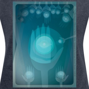 The Secret of Music – Blue Hands T-Shirts - Women´s Rolled Sleeve Boxy T-Shirt