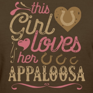 This Girl Loves Her Appaloosa Horse T-Shirts - Women's T-Shirt