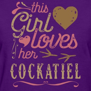 This Girl Loves Her Cockatiel Parrot T-Shirts - Women's T-Shirt