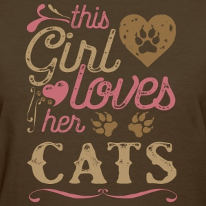 This Girl Loves Her Cats T-Shirts - Women's T-Shirt