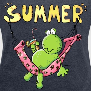 Summer Frog T-Shirts - Women´s Roll Cuff T-Shirt