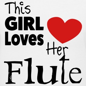 This Girl Loves Her FLute  - Women's V-Neck T-Shirt
