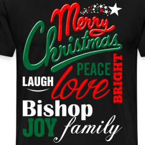 Merry Christmas Laugh Peace Love Bright Joy Bishop T-Shirts - Men's Premium T-Shirt