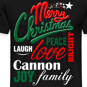 Merry Christmas Laugh Peace Love Bright Joy Cannon T-Shirts - Men's Premium T-Shirt