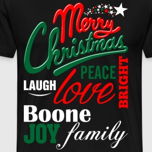Merry Christmas Laugh Peace Love Bright Joy Boone  T-Shirts - Men's Premium T-Shirt