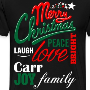 Merry Christmas Laugh Peace Love Bright Joy Carr F T-Shirts - Men's Premium T-Shirt