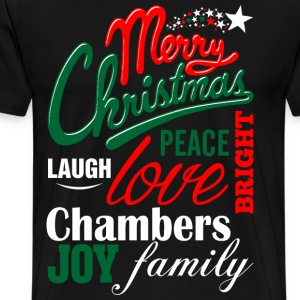 Merry Christmas Laugh Peace Love Bright Joy Chambe T-Shirts - Men's Premium T-Shirt