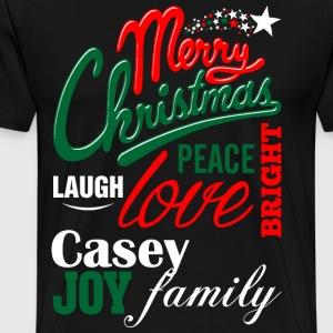 Merry Christmas Laugh Peace Love Bright Joy Casey  T-Shirts - Men's Premium T-Shirt