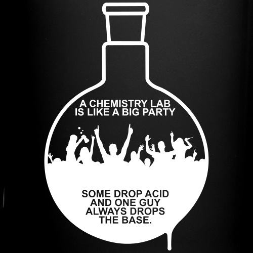 A CHEMISTRY LAB IS LIKE A BIG PARTY