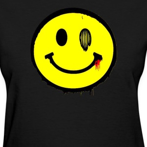 Grunge Smiley T-Shirts - Women's T-Shirt