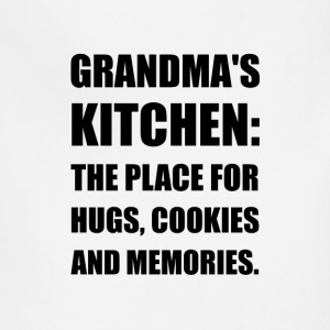 Grandma Hugs Cookies Memories - Adjustable Apron