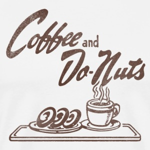 Coffee and Donuts T-Shirt - Men's Premium T-Shirt