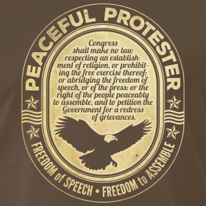 First Amendment Protester Peaceful - Men's Premium T-Shirt