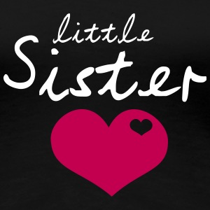 Little Sister with Cute Heart T-shirts - T-shirt premium pour femmes