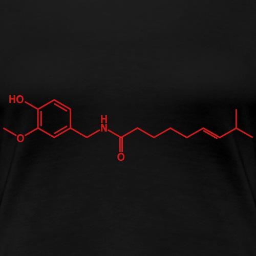 Capsaicin (Hot Chili) Molecule