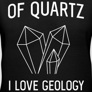 Of Quartz I love Geology T-Shirts - Women's V-Neck T-Shirt