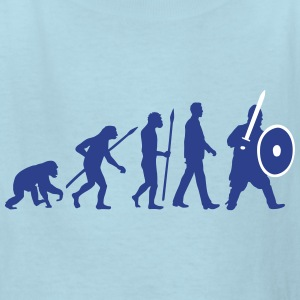 evolution_of_man_knight_with_sword_07201 Kids' Shirts - Kids' T-Shirt