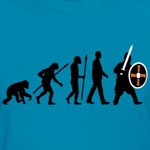 evolution_of_man_knight_with_sword_07201 T-Shirts - Women's T-Shirt