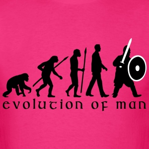 evolution_of_man_knight_with_sword_07201 T-Shirts - Men's T-Shirt