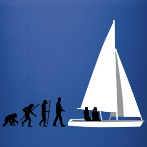evolution_of_man_sailing_boat_b_3c Mugs & Drinkware - Full Color Mug