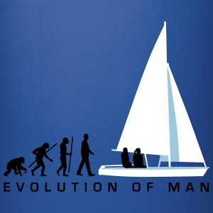 evolution_of_man_sailing_boat_a_3c Mugs & Drinkware - Full Color Mug