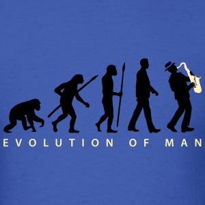 evolution_of_man_saxophone_player_092016 T-Shirts - Men's T-Shirt
