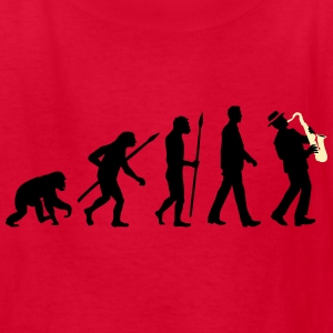 evolution_of_man_saxophone_player_092016 Kids' Shirts - Kids' T-Shirt