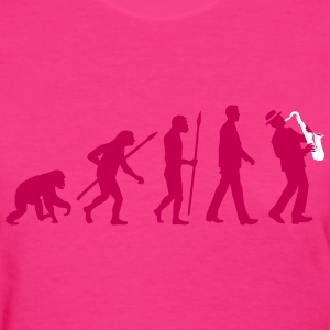 evolution_of_man_saxophone_player_092016 T-Shirts - Women's T-Shirt