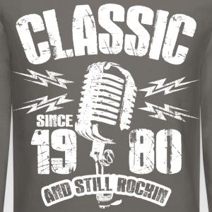 Classic Since 1980 Long Sleeve Shirts - Crewneck Sweatshirt