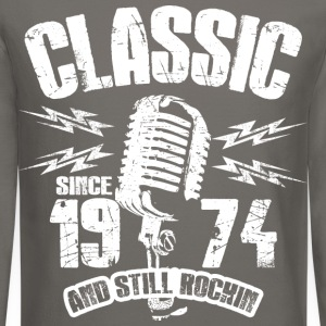 Classic Since 1974 Long Sleeve Shirts - Crewneck Sweatshirt