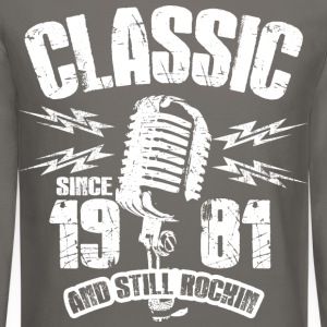 Classic Since 1981 Long Sleeve Shirts - Crewneck Sweatshirt