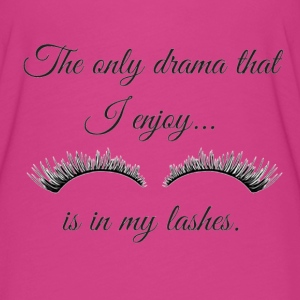 The Only Drama I enjoy is in my lashes. - Women's Flowy T-Shirt