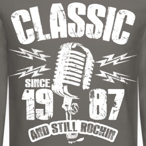 Classic Since 1987 Long Sleeve Shirts - Crewneck Sweatshirt