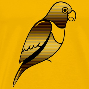 Parrot design striped T-Shirts - Men's Premium T-Shirt