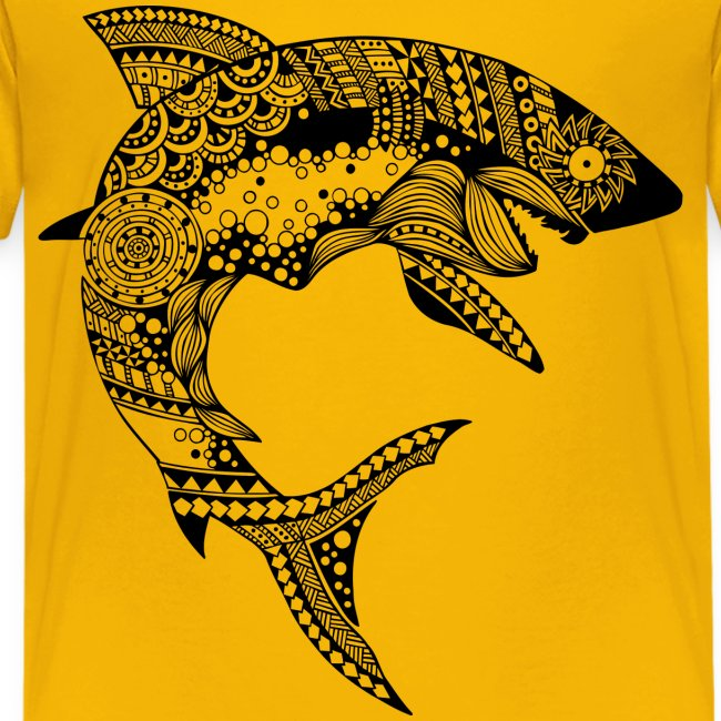 Tribal Shark Kids Premium T-Shirt from South Seas Tees