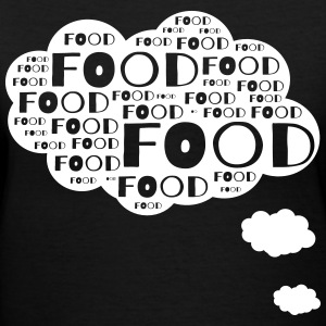 Food thought bubble T-Shirts - Women's V-Neck T-Shirt
