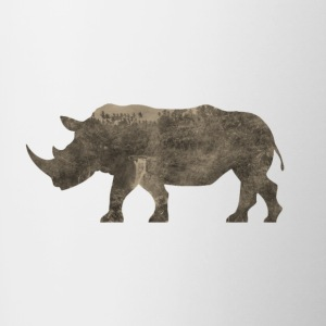 Silhouette Jungle Series Rhino - Contrast Coffee Mug