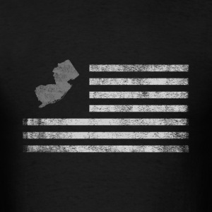 New Jersey State United States Flag Vintage USA - Men's T-Shirt